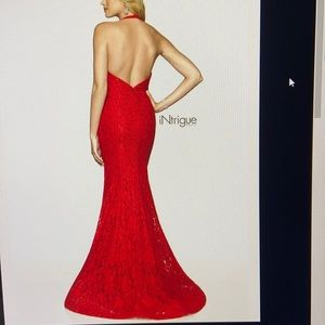 Halter Red Prom Dress Intrigue by Blush Sz 8